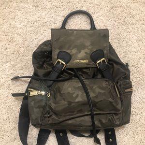 Steve Madden camo nylon backpack